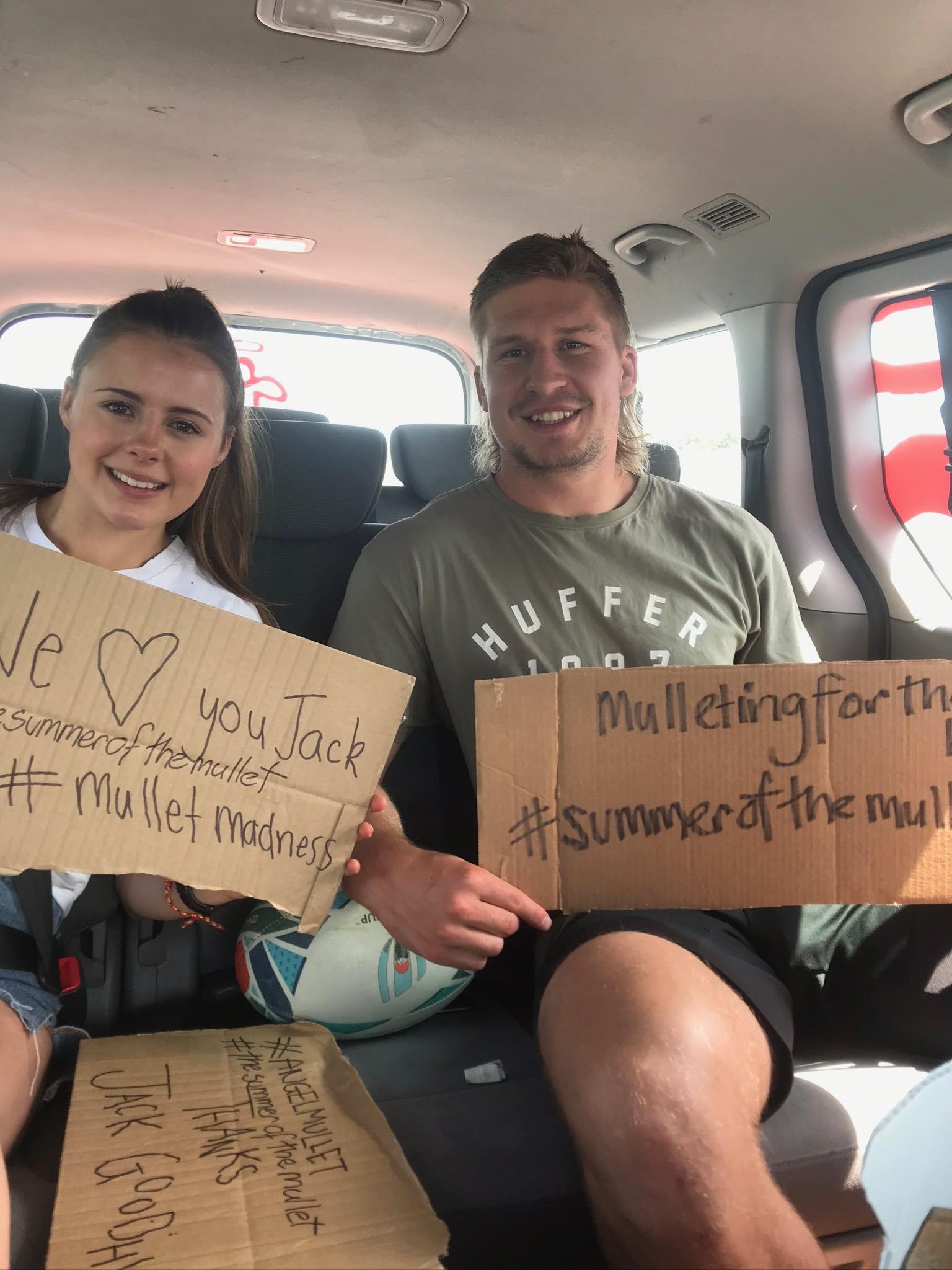 Jack& Sophia in the Angel van