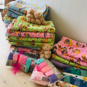 Our partners in Iwi social services make sure the pyjamas and blankets, coats and sweaters get to the right whanau (families).